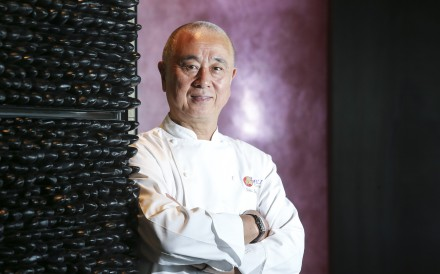 Nobu Matsuhisa at Nobu restaurant in the InterContinental Hong Kong. Photo: Dickson Lee