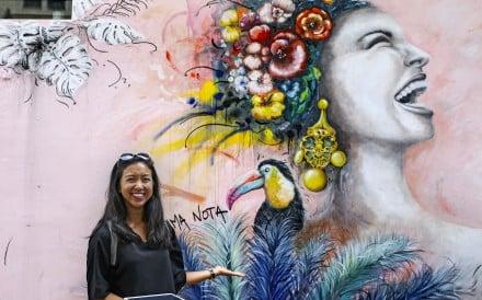 Street art tour guide Diana Chen in Central. Photo: Sam Tsang