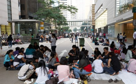 There are some 189,000 Filipino domestic workers in Hong Kong, who usually gather in Central on Sunday to catch up with their friends working in the city. Photo: Nora Tam