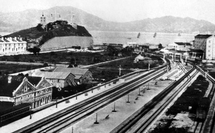 A photo of the Kowloon-Canton Railway in Tsim Sha Tsui from 1915.