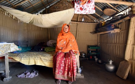 Marzina Bibi, 26, who said she was detained last year on suspicion of being an illegal immigrant from Bangladesh, poses inside her house in Fofonga village in Goalpara district in the northeastern state of Assam, India. Photo: Reuters