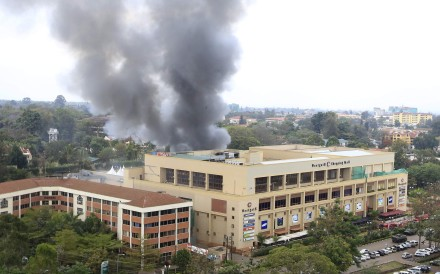 Smoke rises from the Westgate shopping centre after explosions at the mall in Nairobi, Kenya in 2013. Photo: Reuters