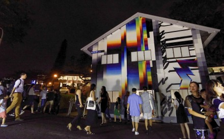 The recent Art After Dark festival at Gillman Barracks attracted around 9,000 visitors. Photo: courtesy of National Arts Council of Singapore