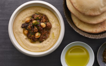 Hummus at FRANCIS, the latest go-to restaurant in town