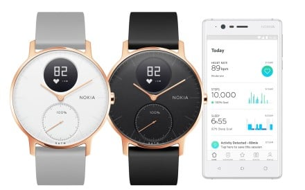 The Nokia Steel HR fitness tracker looks like an old-school wristwatch.
