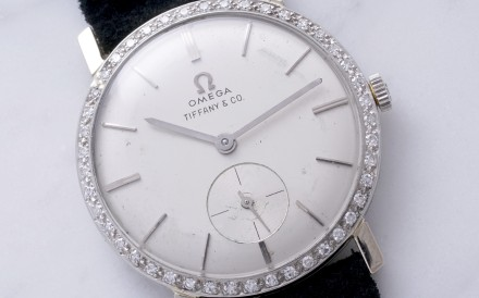 Elvis Presley's Omega wristwatch, which will be auctioned in May in Geneva.