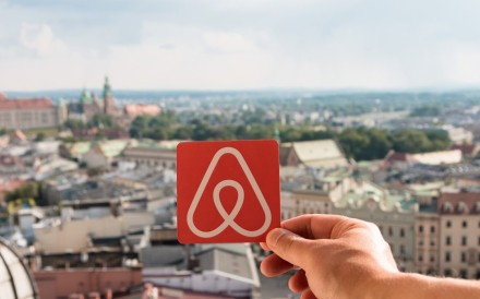 The logo of Airbnb, which has launched upmarket services, such as Airbnb Plus and Beyond Airbnb, as it aims to attract more customers, including mainland Chinese travellers. Photo: Shutterstock