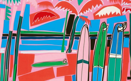 The design of Hermès' Sea, Surf and Fun scarf, created by Filipe Jardim, was inspired the beaches of the Basque Country in northern Spain.