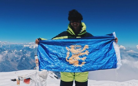 Benjamin Chan, a former pupil at King George V School, on an expedition. Photo: Facebook