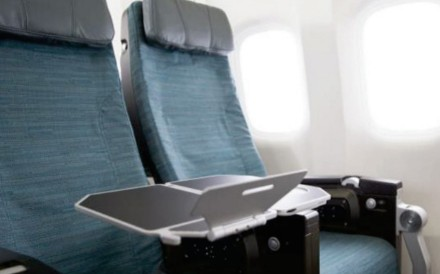 The first photos have emerged of Cathay's new economy class seat on Boeing 777 aircraft. Photo: CX