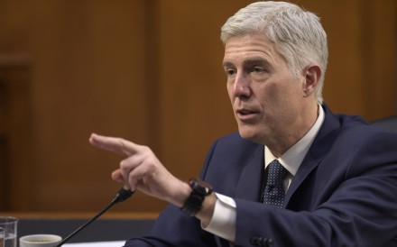 Justice Neil Gorsuch cast a key vote to spare a California immigrant from deportation. File photo: AP