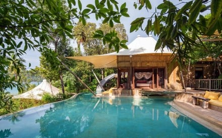 The guest pool at Soneva Kiri, Koh Kood in Thailand – one of six recommended eco-friendly holiday destinations.