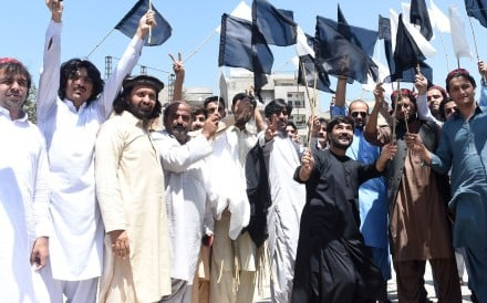 Members of the Pashtun Protection Movement. Photo: AFP