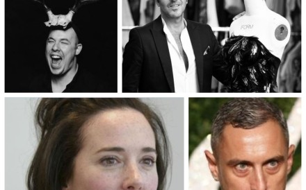 Four fashion designers who died too soon: (clockwise from bottom left) Kate Spade, Alexander McQueen, Raffaele Borriello and Richard Nicoll.