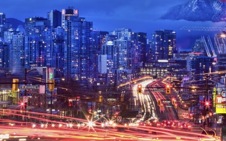 Traffic heads over Vancouver's Cambie Street bridge. The city has seen an influx of tens of thousands of wealthy immigrants since the late 1980s, mostly from Hong Kong and mainland China. Photo: Tourism Vancouver