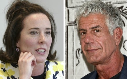 The recent deaths of two high-profile people by suicide – fashion designer Kate Spade, 55, and chef Anthony Bourdain, 61 – could spark a jump in people killing themselves, research suggests. Photo: AP