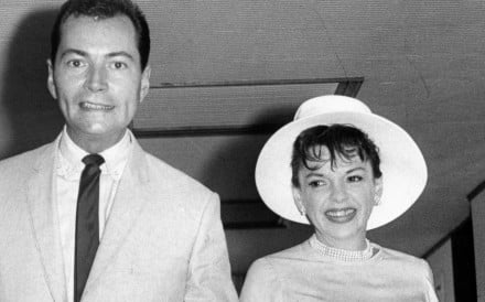 Actress Judy Garland with Mark Herron at Canossa Hospital in Hong Kong, in June 1964. Picture: SCMP