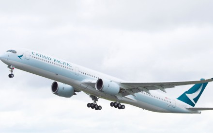Cathay Pacific Airways hopes the technologically advanced, long-haul Airbus A350-1000 can boost fuel efficiency. Photo: Handout