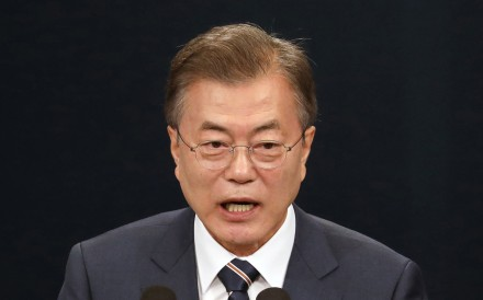 South Korean President Moon Jae-in. Photo: Bloomberg