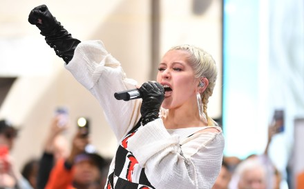 Christina Aguilera is back, performing songs from her new album 'Liberation' live on NBC's 'Today' show last month. Photo: AFP/Angela Weiss
