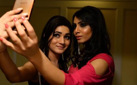 Transgender beauty contestants in New Delhi. Photo: AFP