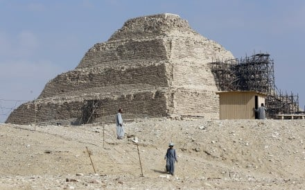 Excavation workers at Saqqara, in Giza on July 14, 2018. Photo: AP