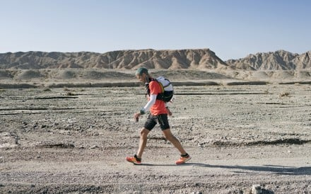 Dan Lawson sets the record at the 2017 Ultra Gobi, a 400km non-stop ultra marathon. There is US$10,000 on the line if you can beat Lawson's time. Photo: Lloyd Belcher Visuals