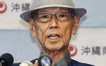 Late Okinawa governor Takeshi Onaga. Photo: Kyodo/AP