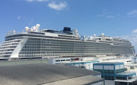 The new 4,004-passenger Norwegian Bliss, owned by the Norwegian Cruise Line, currently sailing in Alaskan and Canadian waters, begins its inaugural winter season in November with seven-day Eastern Caribbean cruises each Saturday from Miami. Photo: TNS