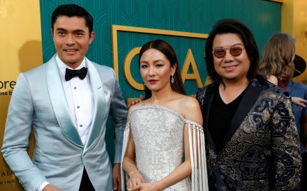 Kevin Kwan, right, author of the book Crazy Rich Asians, with the film adaptation's cast members Henry Golding and Constance Wu, at its premiere in Los Angeles, California, on August 7. Why do Asians expect a film to represent all of them and even look to Hollywood to produce such a film? Photo: Reuters