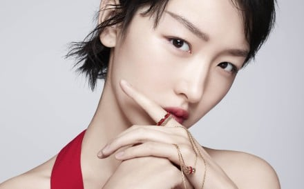 Zhou Dongyu is the face of Boucheron's new Quatre Red Edition, which consists of a ring and a pendant.