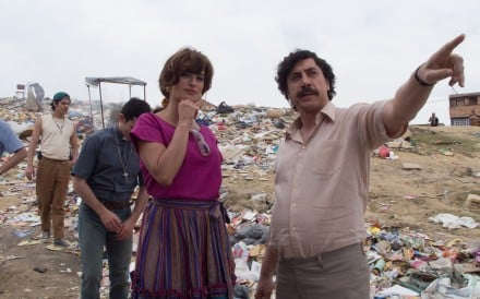 Javier Bardem as Pablo Escobar and Penelope Cruz as Virginia Vallejo in a still from Loving Pablo (category IIB, English, Spanish), directed by Fernando Leon de Aranoa.