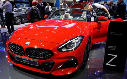A BMW Z4 on display at last week's Paris auto show. Photo: Reuters