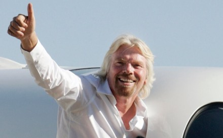 Billionaire entrepreneur Sir Richard Branson – who bought himself Necker Island in the British Virgin Islands for about US$320,000 dollars in 1979 – hopes to send wealthy travellers on suborbital space flights aboard his Virgin Galactic spacecraft. Photo: Fred Prouser
