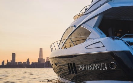 The new Peninsula Hong Kong yacht – a new 60-foot cruiser – can accommodate up to 15 hotel guests on its daily 'sunset' cruises around Hong Kong's Victoria Harbour.