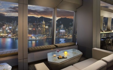 The view from Ozone at the Ritz-Carlton is one of 80 Hong Kong 'location insights' featured in the Explorest app.