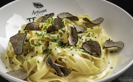 Tagliatelle with shaved black truffle – the signature dish served at Artisan de la Truffe, in Tsim Sha Tsui, in Hong Kong