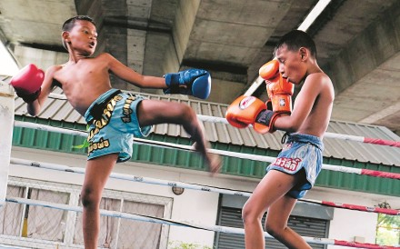 At present, children of any age can legally box in an organised Muay Thai match. Photo: Tibor Krausz