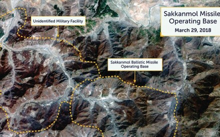 New satellite images of hidden ballistic missile bases suggest North Korea's claims to be eliminating its nuclear weapons are a deception. Photo: CSIS/Beyond Parallel/DigitalGlobe