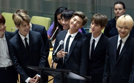 Members of the Korean K-Pop group BTS. Photo: AP