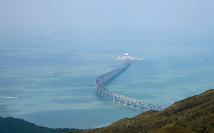 A section of the Hong Kong-Zhuhai-Macau Bridge as seen from Lantau Island. The Hong Kong government proposes to reclaim 1,700 hectares off Lantau to tackle the city's land shortage. Photo: AFP