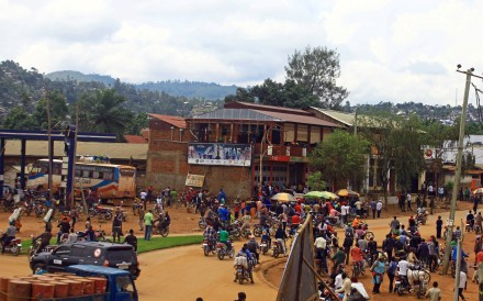Civilians gather on a street in the town of Beni in North Kivu province of the Democratic Republic of Congo. Photo: Reuters