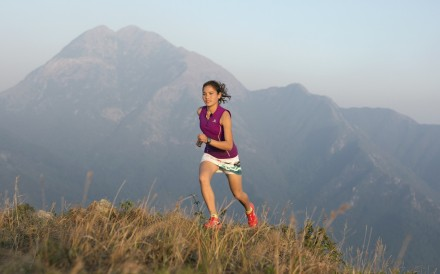 Nepali athlete Sunmaya Budha training on Lantau Island, which has two challenging peaks that feature in many of the trail races in Hong Kong. Photo: Lloyd Belcher Visuals