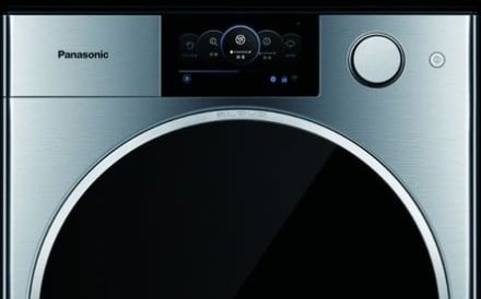 Panasonic's top-of-the-range Alpha washing machine, designed by Studio F.A. Porsche for the Chinese market – featuring a brushed stainless steel body and a control panel that modelled on a car's instrument panel – is taking advantage of the huge demand among wealthy Chinese for German designed electrical products. Photo: Panasonic