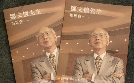 Raymond Chow died late last month, aged 91. Photo: Winson Wong