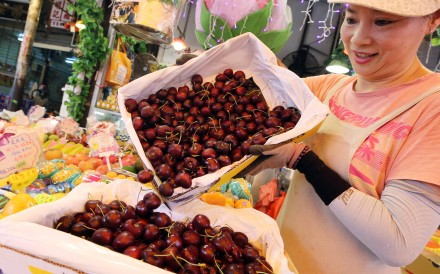 Cherries have become popular during the Lunar New Year holiday period. Photo: Dickson Lee