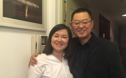 Chinese Christian Pastor Wang Yi is seen with wife Jiang Rong at their home on May 12. Both members of the evangelical Early Rain Covenant Church, they were taken by Chinese authorities on Sunday December 9, 2018. Photo: Early Rain Covenant Church via Facebook