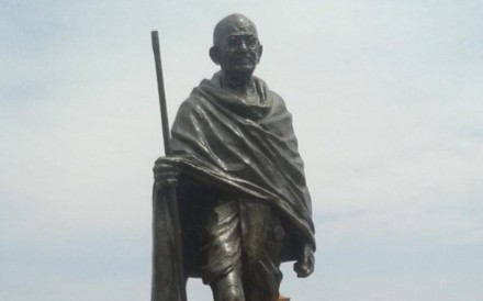 The statue of Mahatma Gandhi at the University of Ghana. Photo: Twitter