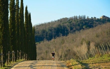 A competitor runs in the Chianti Ultra Trail in Siena, Italy, which will see entrants compete in either a 15km, 37km or 73km race in March.