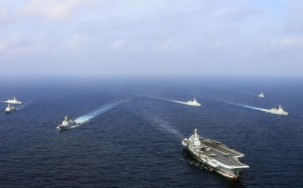 A flotilla of Chinese naval vessels. Photo: AFP